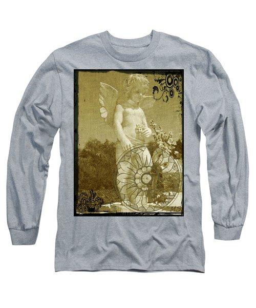 The Angel - Art Nouveau Long Sleeve T-Shirt by Absinthe Art By Michelle LeAnn Scott