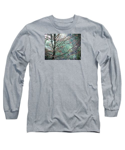 Long Sleeve T-Shirt featuring the photograph The Aura Of Trees by Angela Davies