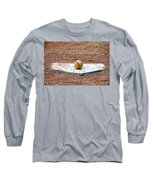 The Ball Of Field Of Dreams Long Sleeve T-Shirt by Susanne Van Hulst