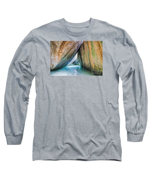 The Baths Virgin Gorda British Virgin Islands Long Sleeve T-Shirt by Olga Hamilton