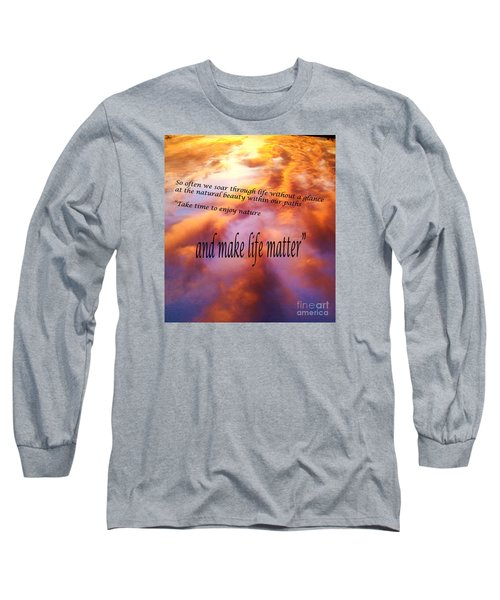 Long Sleeve T-Shirt featuring the photograph The Beauty In Nature by Robin Coaker