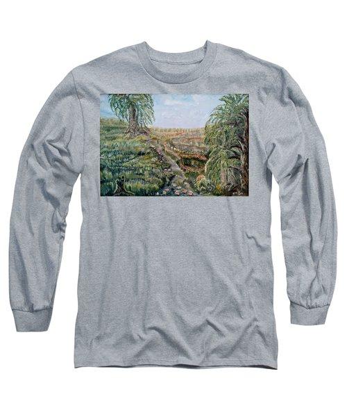The Beauty Of A Marsh Long Sleeve T-Shirt by Felicia Tica