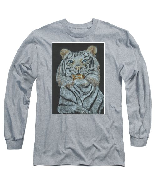 Long Sleeve T-Shirt featuring the pastel The Bengal by Carol Wisniewski
