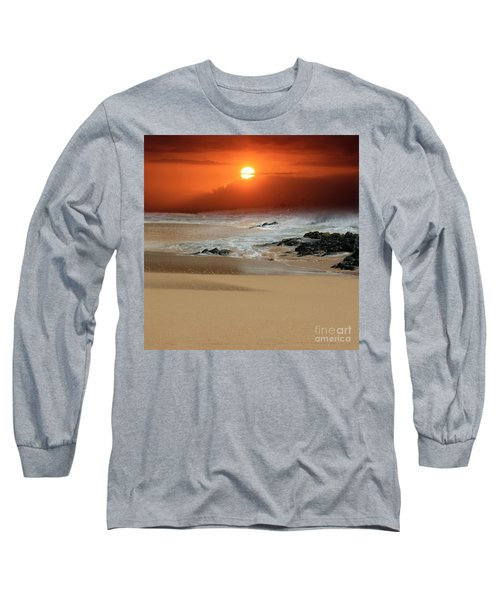 The Birth Of The Island Long Sleeve T-Shirt by Sharon Mau