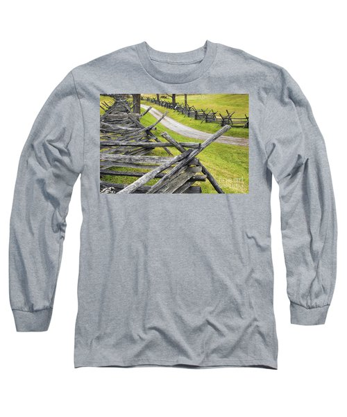 The Bloody Lane At Antietam Long Sleeve T-Shirt