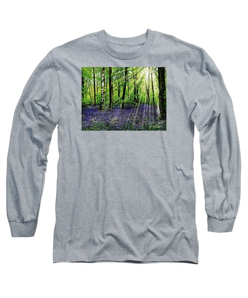 The Bluebell Woods Long Sleeve T-Shirt by Morag Bates