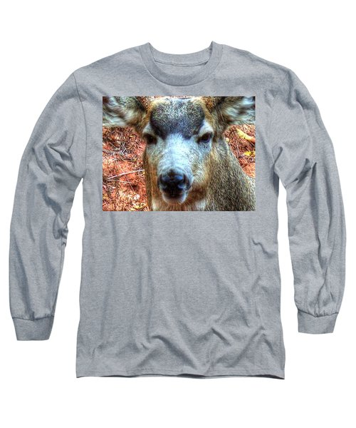 Long Sleeve T-Shirt featuring the photograph The Buck II by Lanita Williams