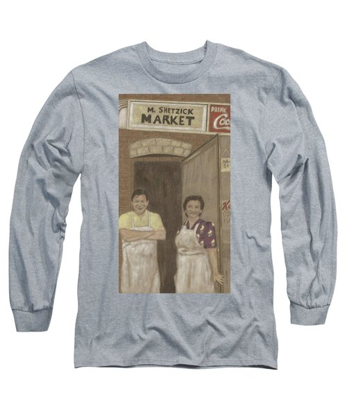 The Butcher And His Wife  Long Sleeve T-Shirt by Arlene Crafton