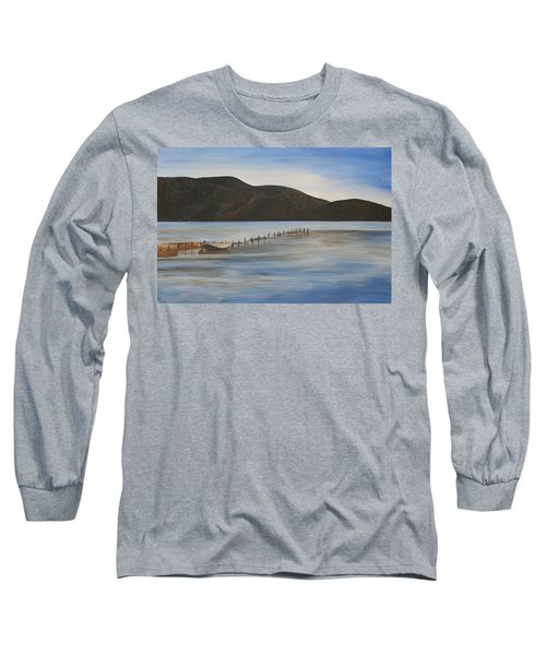 Long Sleeve T-Shirt featuring the painting The Calm Water Of Akyaka by Tracey Harrington-Simpson