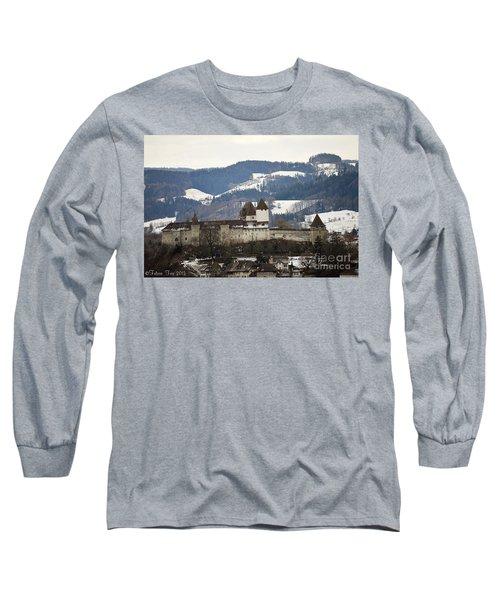 The Castle In Winter Look Long Sleeve T-Shirt