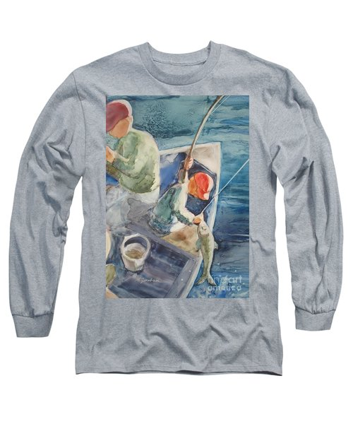The Catch Long Sleeve T-Shirt by Marilyn Jacobson