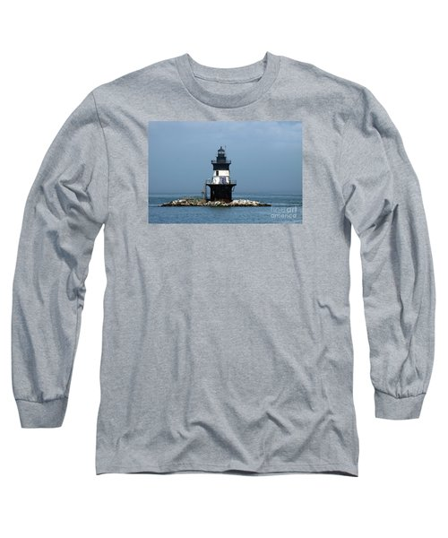 The Coffee Pot Lighthouse Long Sleeve T-Shirt by Christiane Schulze Art And Photography