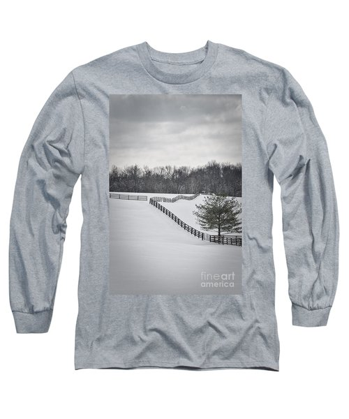 The Color Of Winter - Bw Long Sleeve T-Shirt