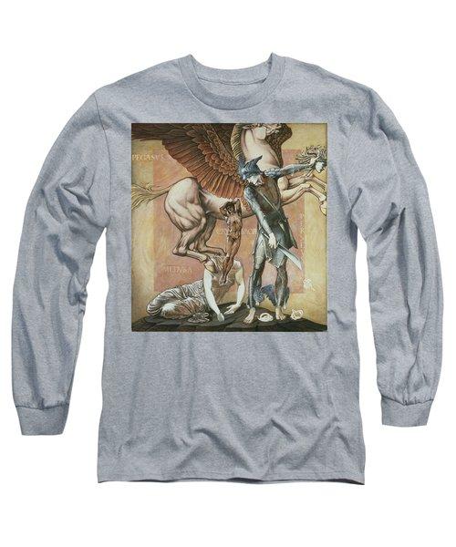 The Death Of Medusa I, C.1876 Long Sleeve T-Shirt by Sir Edward Coley Burne-Jones