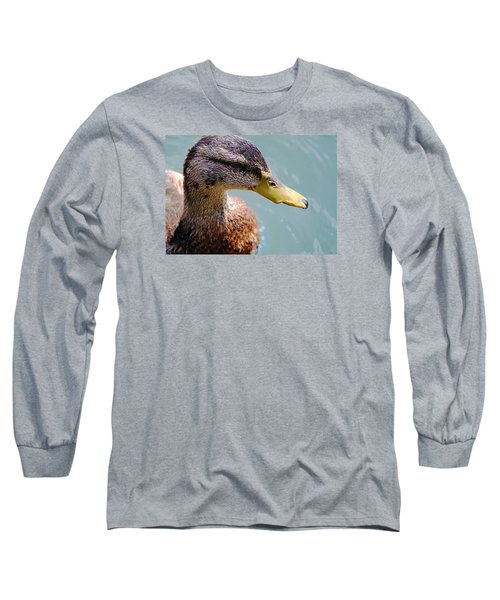 Long Sleeve T-Shirt featuring the photograph The Duck by Milena Ilieva