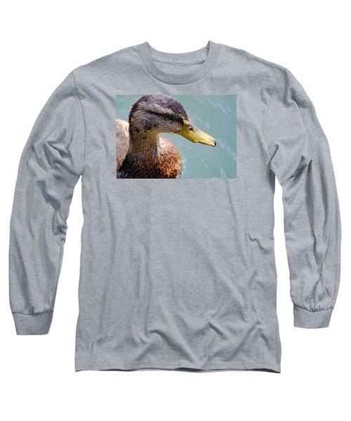 The Duck Long Sleeve T-Shirt by Milena Ilieva