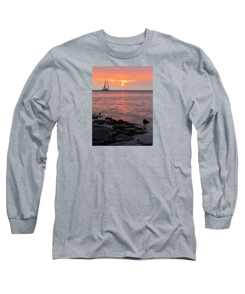 The Edith Becker Sunset Cruise Long Sleeve T-Shirt by David T Wilkinson