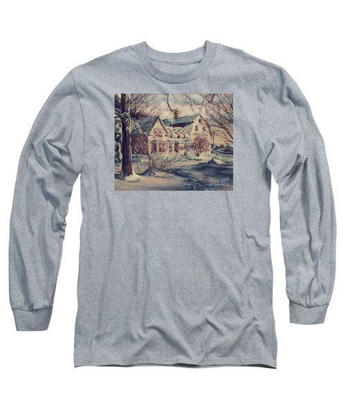 Long Sleeve T-Shirt featuring the painting The Farm by Joy Nichols