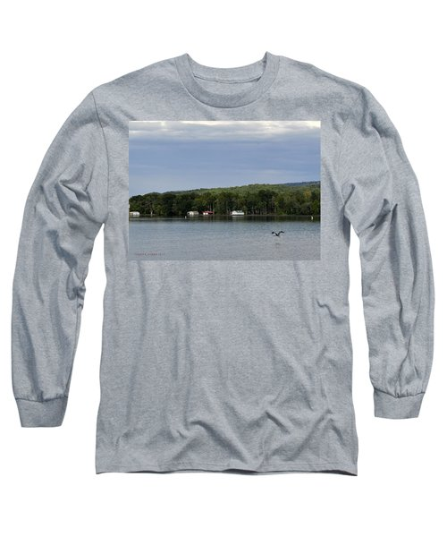 The Flight Of The Great Blue Heron Long Sleeve T-Shirt