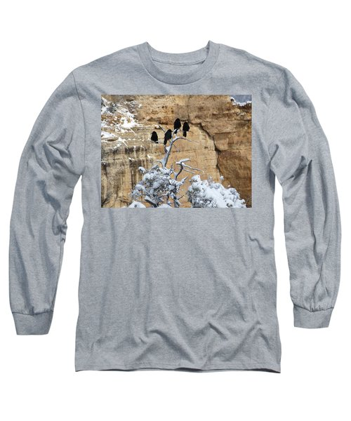 The Four Crows Long Sleeve T-Shirt by Laurel Powell