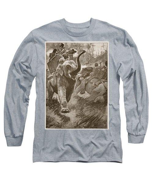 The Frightened Elephants Rushed Back Long Sleeve T-Shirt