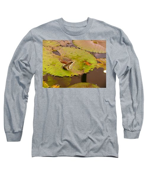 Long Sleeve T-Shirt featuring the photograph The Frog by Evelyn Tambour
