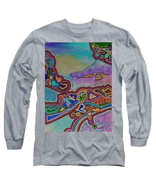Long Sleeve T-Shirt featuring the painting The Genie Is Out Of The Bottle by Barbara St Jean