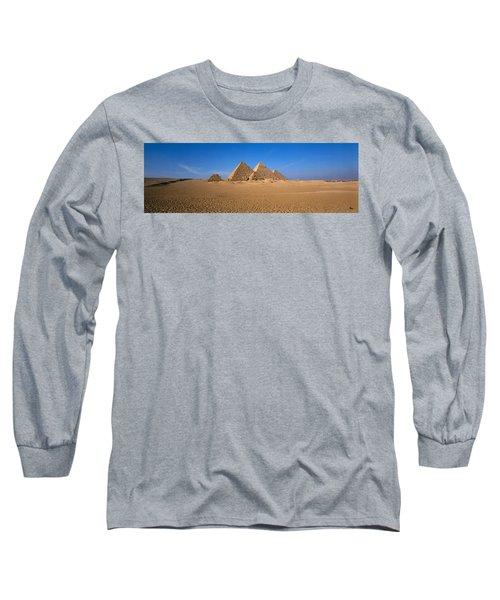 The Great Pyramids Giza Egypt Long Sleeve T-Shirt