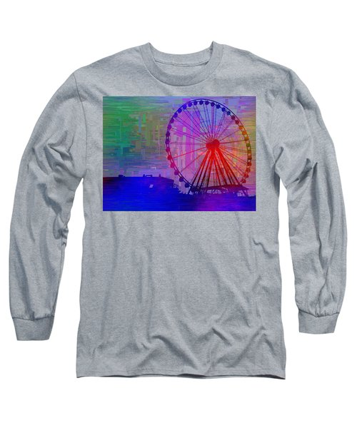 The Great  Wheel Cubed Long Sleeve T-Shirt by Tim Allen