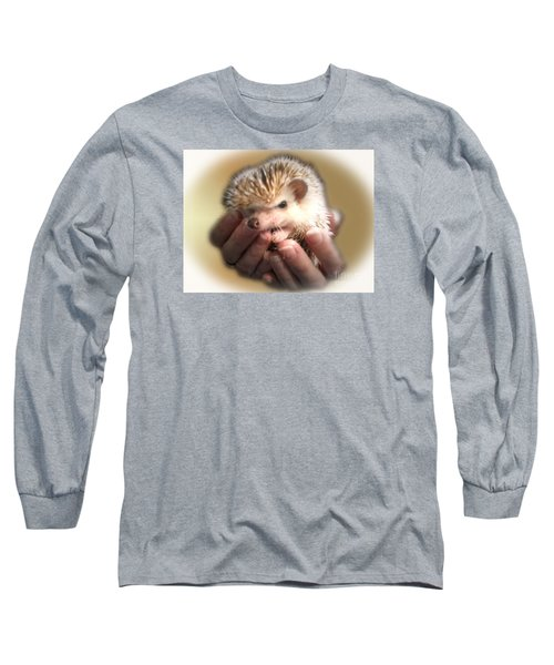 Long Sleeve T-Shirt featuring the photograph The Hands Who Cares For The Animals  by Donna Brown