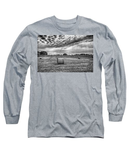 The Hay Bails Long Sleeve T-Shirt by Howard Salmon