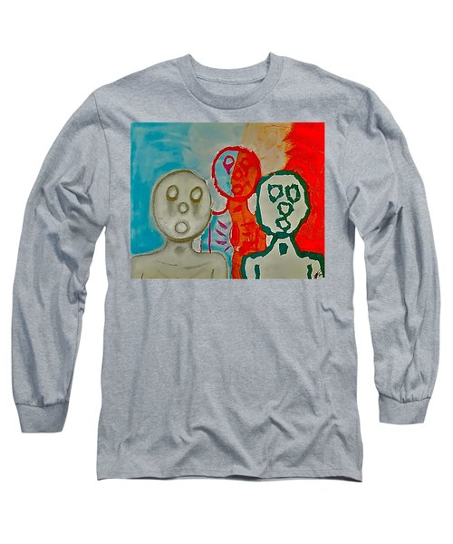 The Hollow Men 88 - Study Of Three Long Sleeve T-Shirt