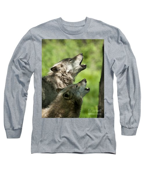 Long Sleeve T-Shirt featuring the photograph The Howling by Wolves Only