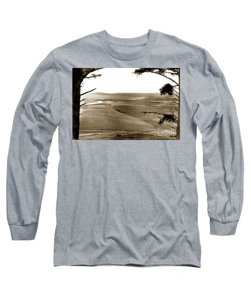 The Lagoon At The Mouth Of The Carmel River  From Fish Ranch California 1905 Long Sleeve T-Shirt
