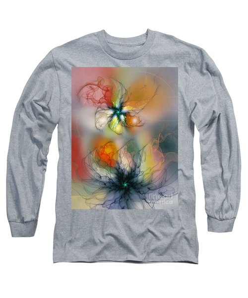 The Lightness Of Being-abstract Art Long Sleeve T-Shirt by Karin Kuhlmann