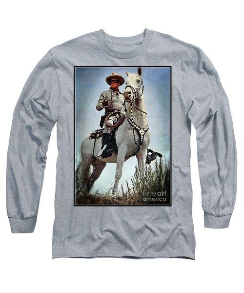 The Lone Ranger Long Sleeve T-Shirt by Bob Hislop