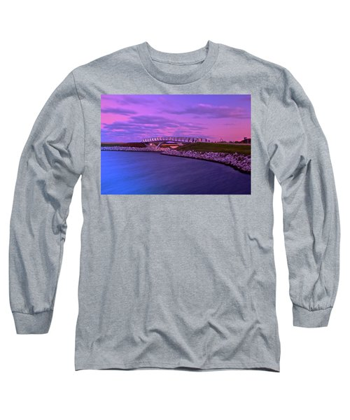 The Lonely Bridge Long Sleeve T-Shirt by Jonah  Anderson