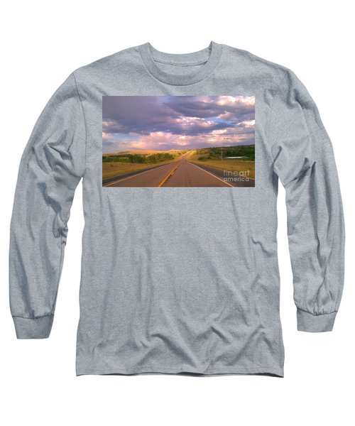 The Long Road Home Long Sleeve T-Shirt by Chris Tarpening