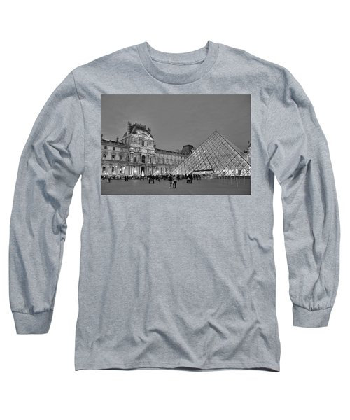 The Louvre Black And White Long Sleeve T-Shirt