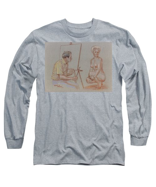 The Model Long Sleeve T-Shirt by Duane R Probus