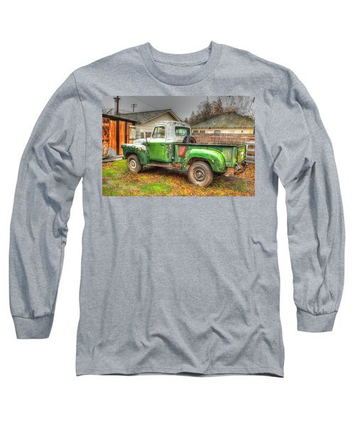 Long Sleeve T-Shirt featuring the photograph The Old Green Truck by Jim Thompson