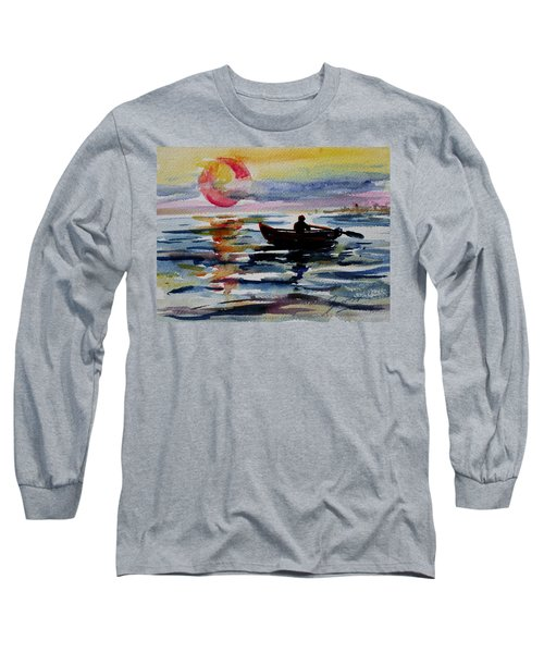 The Old Man And The Sea Long Sleeve T-Shirt by Xueling Zou