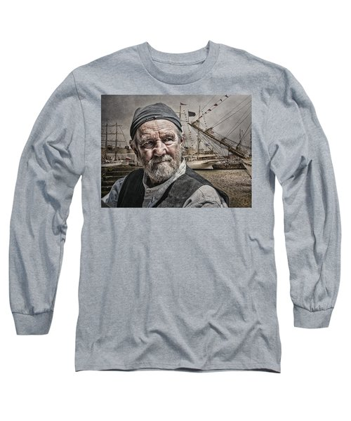 Long Sleeve T-Shirt featuring the photograph The Old Salt by Brian Tarr