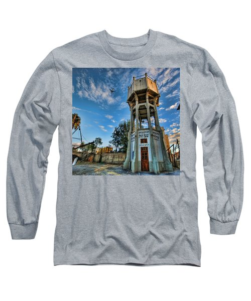 Long Sleeve T-Shirt featuring the photograph The Old Water Tower Of Tel Aviv by Ron Shoshani