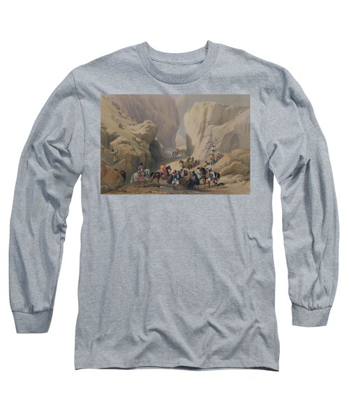 The Opening Into The Narrow Pass Above Long Sleeve T-Shirt