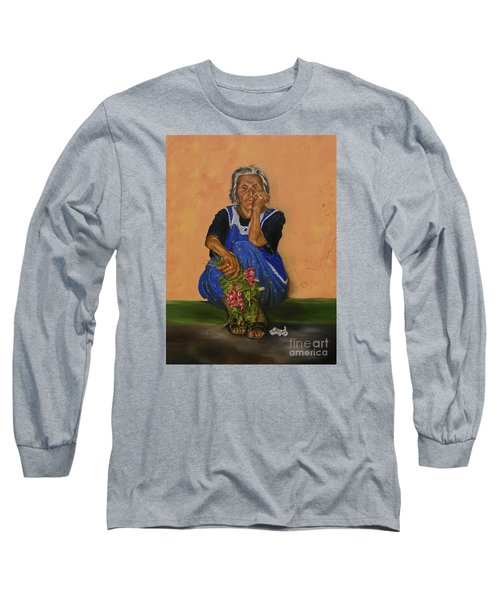 The Parga Flower Seller Long Sleeve T-Shirt