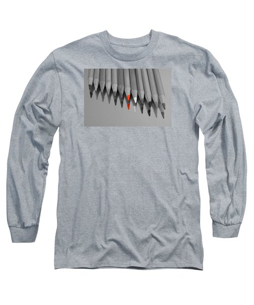The Red Pencil Long Sleeve T-Shirt by Kathy Churchman