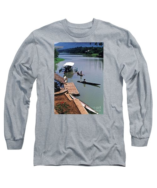 Long Sleeve T-Shirt featuring the photograph The River Leading To Pagsanjan Falls In The Philippines by Jim Fitzpatrick