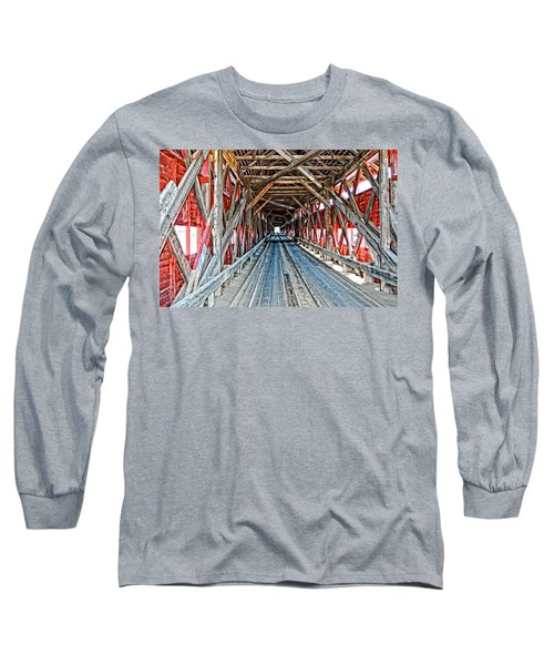 The Road Less Traveled Long Sleeve T-Shirt by Bianca Nadeau