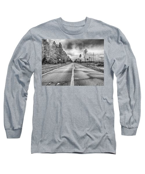 The Road Less Traveled Long Sleeve T-Shirt by Howard Salmon